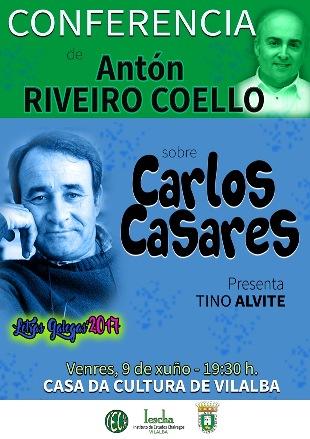Conferencia de Antón Riveiro Coello sobre Carlos Casares
