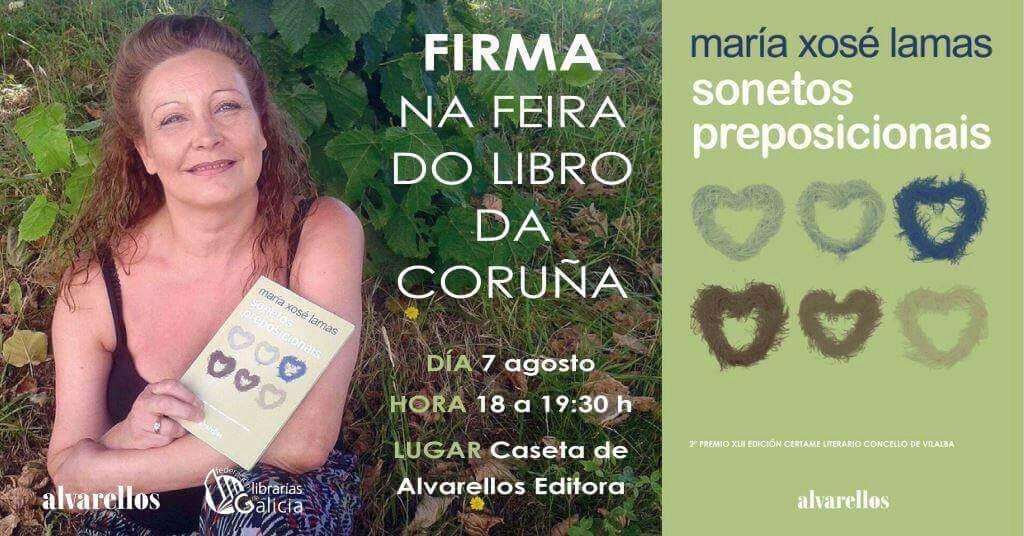 """MARÍA XOSÉ LAMAS NA FEIRA DO LIBRO DA CORUÑA CON """"SONETOS PREPOSICIONAIS"""""""