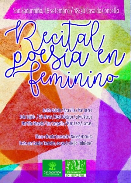 A Chaira e Ferrolterra unidas coa poesía pola igualdade e contra a violencia machista.