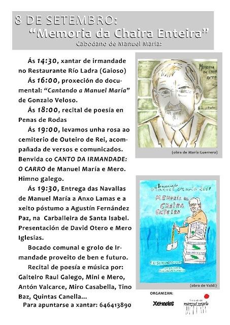 MEMORIA DA CHAIRA ENTEIRA. Cabodano de Manuel María.