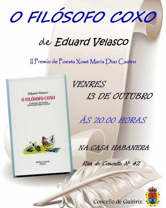Presentación do libro O FILÓSOFO COXO de Eduard Velasco