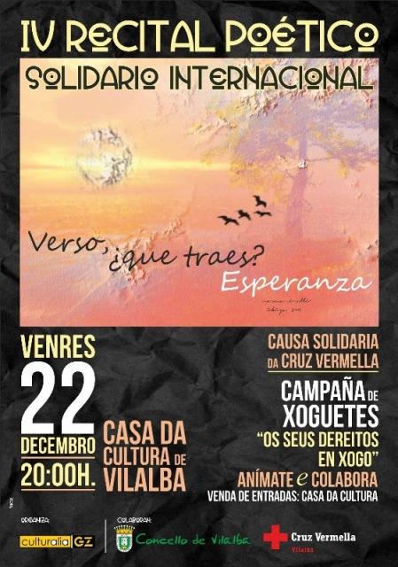 IV RECITAL POÉTICO SOLIDARIO INTERNACIONAL na Casa da Cultura de Vilalba