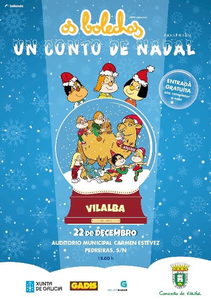 OS BOLECHAS, UN CONTO DE NADAL no Auditorio Municipal de Vilalba