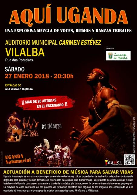 AQUÍ UGANDA no Auditorio Municipal de Vilalba