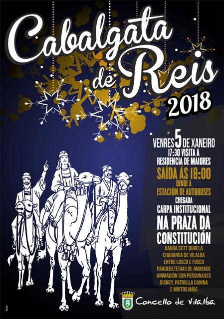 Cabalgata de Reis 2018 en Vilalba