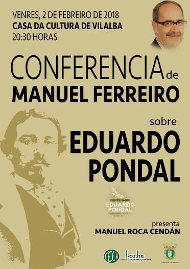Conferencia de Manuel Ferreiro sobre EDUARDO PONDAL organizada polo IESCHA
