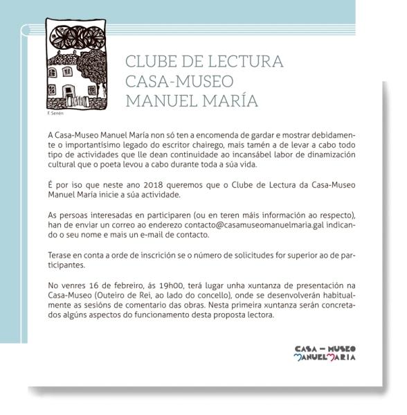 Clube de Lectura da Casa-Museo Manuel María