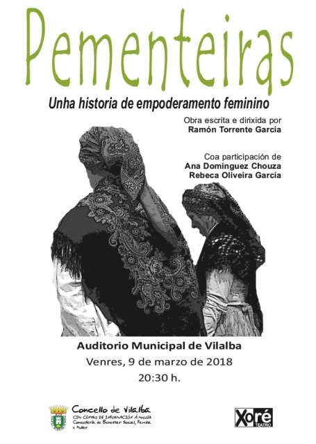 Representación teatral de AS PEMENTEIRAS no Auditorio Municipal de Vilalba