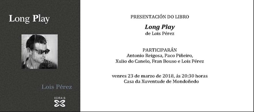 Presentación en Mondoñedo do libro LONG PLAY de Lois Pérez