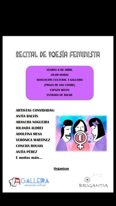 Recital de Poesía Feminista na Asociación Cultural A GALLEIRA
