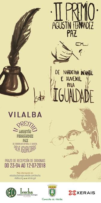 Convocatoria do II Premio AGUSTÍN FERNÁNDEZ PAZ de Narrativa Infantil e Xuvenil Pola Igualdade