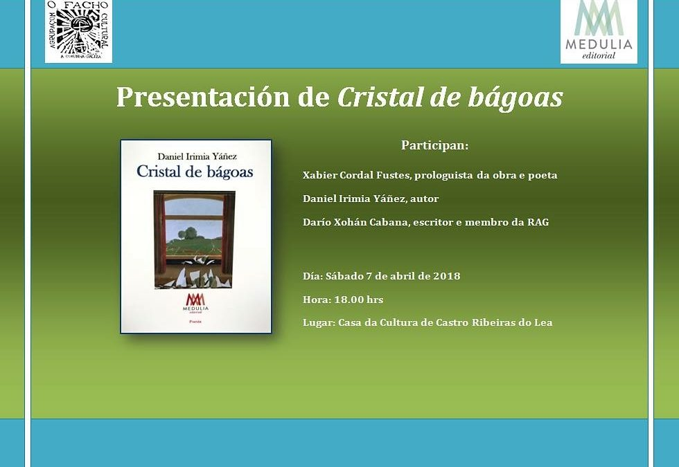 """Presentación en Castro Ribeiras do Lea do poemario """"Cristal de bágoas"""" de Daniel Irimia Yáñez"""