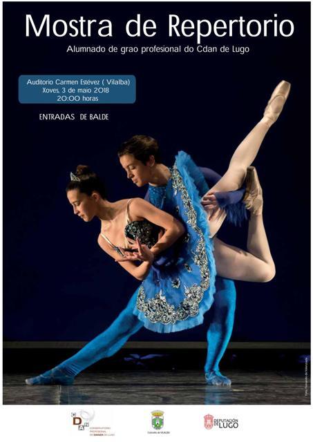 Mostra de Repertorio de Danza Clásica no Auditorio Municipal de Vilalba