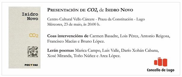 Presentación do poemario CO2, de Isidro Novo en Lugo