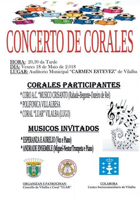 Concerto de Corais no Auditorio Municipal de Vilalba