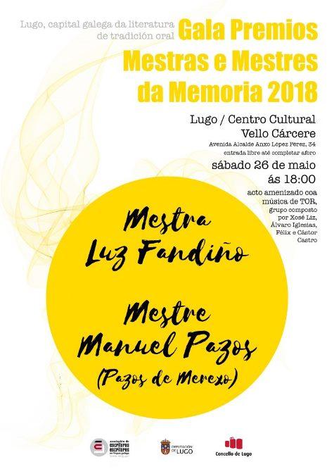 Gala Premios Mestras e Mestres da Memoria 2018