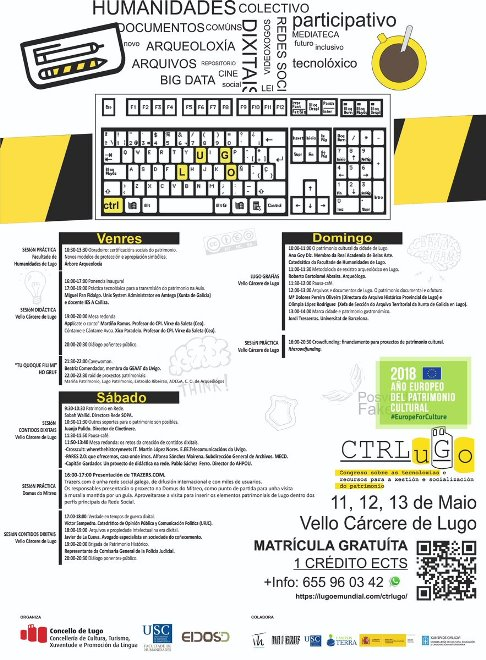 CTRLuGo: Congreso sobre as Tecnoloxías e Recursos para a xestión e a socialización do Patrimonio