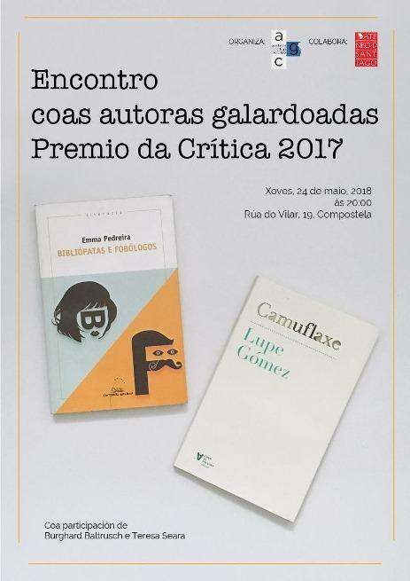 Encontro coas autoras galardoadas co Premio da Crítica 2017