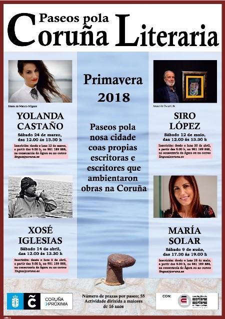 Paseos pola Coruña Literaria – Primavera 2018. Un paseo con Álvaro Cebreiro