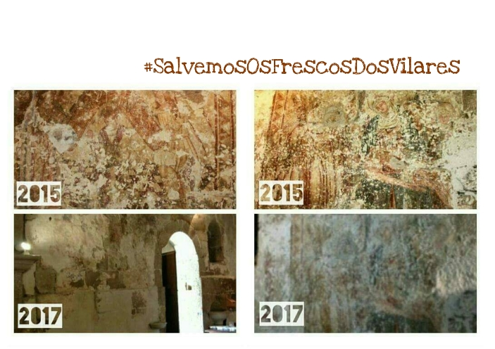 A Lareira de Soños volve reclamar a restauración dos frescos da igrexa dos Vilares, por Antón de Guizán