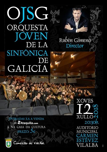 A Orquestra Xove da OSG no Auditorio Municipal de Vilalba