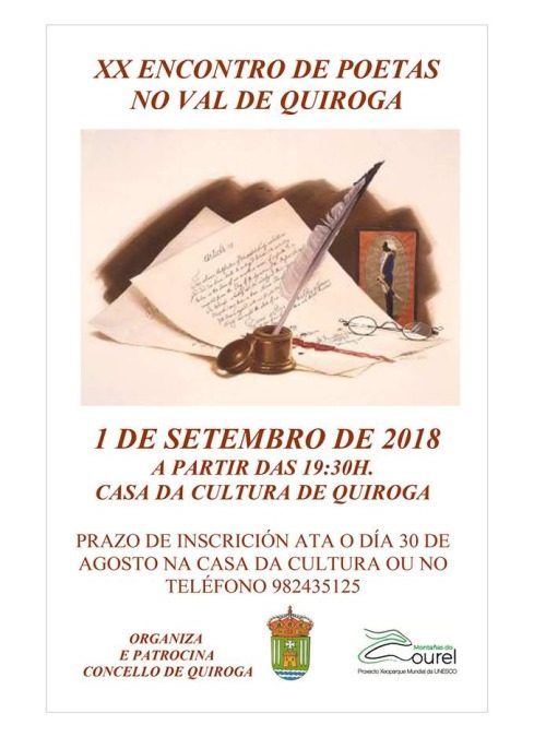 XX ENCONTRO DE POETAS NO VAL DE QUIROGA