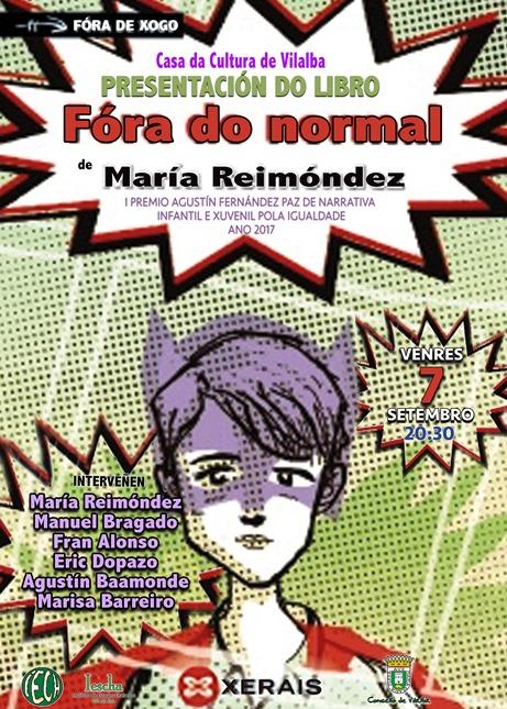 Presentación do libro FÓRA DO NORMAL, de María Reimóndez, na Casa da Cultura de Vilalba
