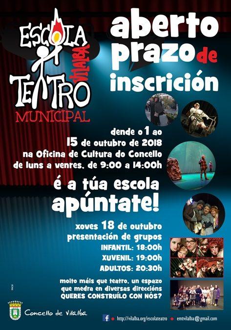 Escola de Teatro de Vilalba, Curso 2018-2019