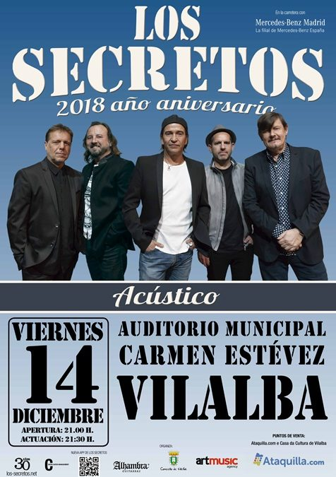 Concerto de LOS SECRETOS no Auditorio Municipal de Vilalba