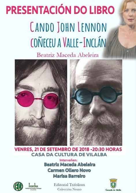 Acto do IESCHA.-Presentación do libro CANDO JOHN LENNON COÑECEU A VALLE-INCLÁN, de Beatriz Maceda Abeleira