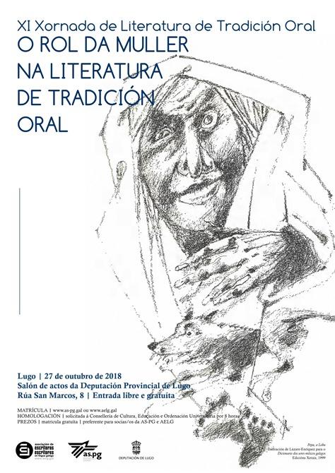 XI Xornada de Literatura de Tradición Oral. Lugo, 27 de outubro de 2018