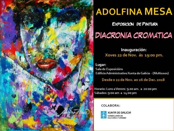 A artista e poeta Adolfina Mesa presenta a Exposición DIACRONÍA CROMÁTICA en Lugo